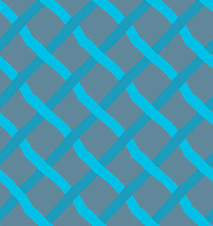 hand brushed: Blue diagonal crossing lines.Hand drawn with ink and colored with marker brush seamless background.Creative hand made brushed design.