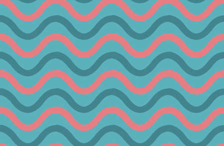 hand brushed: Pink and blue wavy lines.Hand drawn with ink and colored with marker brush seamless background.Creative hand made brushed design.