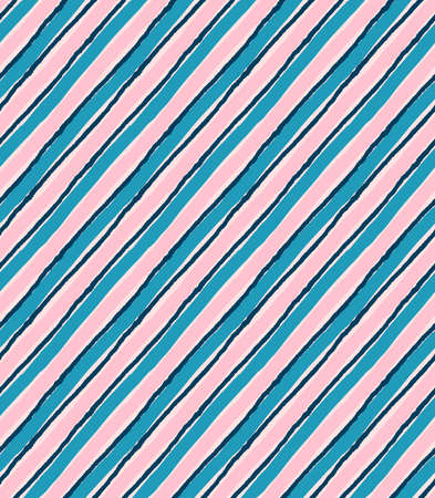 hand brushed: Diagonal blue and pink lines.Hand drawn with ink and colored with marker brush seamless background.Creative hand made brushed design.