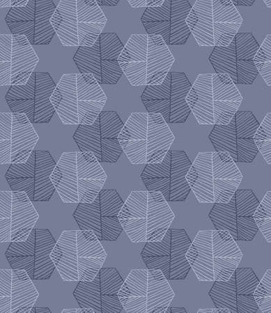 hatched: Hatched hexagons intersecting blue.Simple hatched geometrical pattern.Hand drawn with ink seamless background.Modern hipster style design.