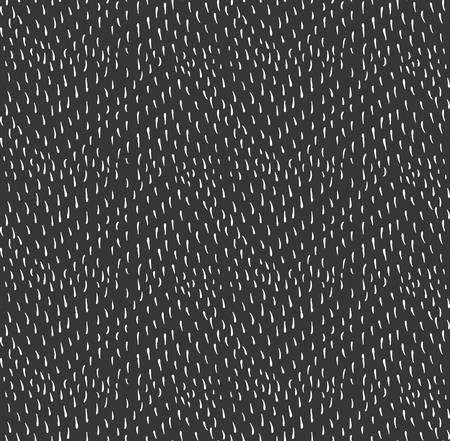 inked: Small strokes on black.Hand drawn with ink seamless background. Fabric design. Textile collection.Seamless pattern with rough inked strokes. Illustration