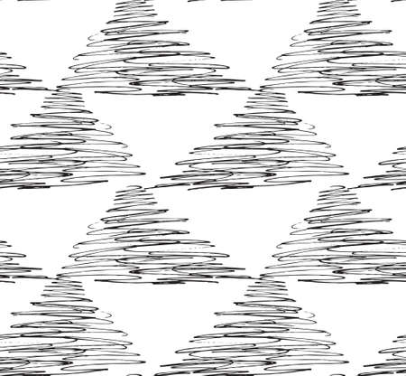 inked: Inked strokes in scribbled triangles on white.Seamless pattern. Fabric design. Simple hand drawn hatched design.