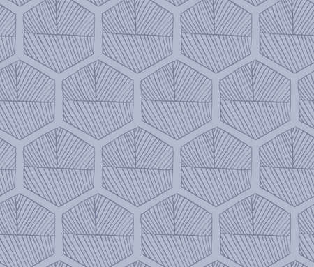 hatched: Hatched hexagons light blue.Simple hatched geometrical pattern.Hand drawn with ink seamless background.Modern hipster style design.