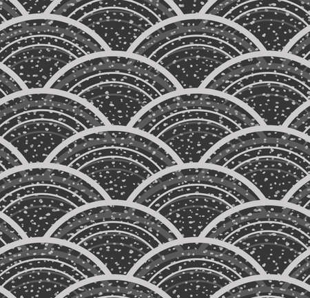 inked: Dots and stains on gray arks.Hand drawn with ink seamless background. Fabric design. Textile collection.Seamless pattern with rough inked strokes.
