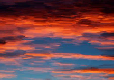 Abstract oil painted sunset sky.Mosaic background. Abstract nature backdrop. Oil painting simulation with mosaic elements. 向量圖像