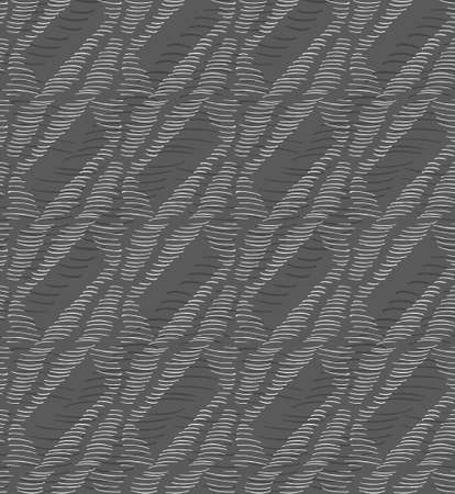 inked: Inked strokes in triangles on gray.Seamless pattern. Fabric design. Simple hand drawn hatched design.