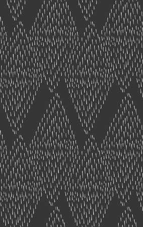 Los accidentes cerebrovasculares pequeños que forman los diamantes en black.Hand dibujan con fondo transparente de tinta. Diseño de la tela. Textil patrón collection.Seamless con trazos escritos en tinta ásperos. Foto de archivo - 57357504