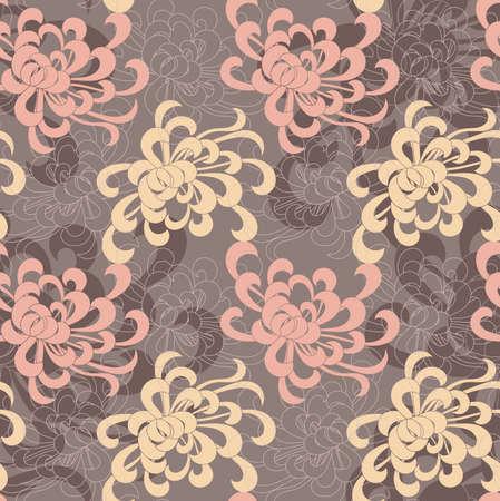 アスターの花の重なり合うピンクと黄色。シームレス パターン。花柄生地のコレクションです。
