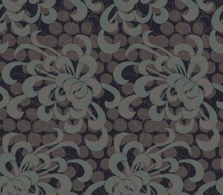 ドットを重ね合わせるとアスター花緑。シームレス パターン。花柄生地のコレクションです。
