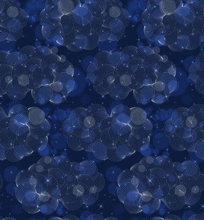 Bokeh 블루 구름 어두운 밤입니다. 완벽 한 패턴입니다. bokeh 조명 효과 함께 패턴입니다. 화려한 배경입니다.