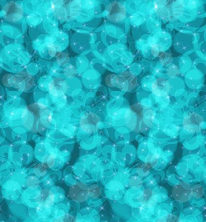 aster: Aster flower blue with light bokeh.Seamless pattern.