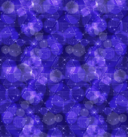 Bokeh stars and hexagons.Seamless pattern.Pattern with bokeh light effect.Colorful background. Ilustracja