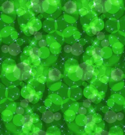 ボケ味緑星です。シームレス パターン。ピンぼけ光効果とパターン。カラフルな背景。