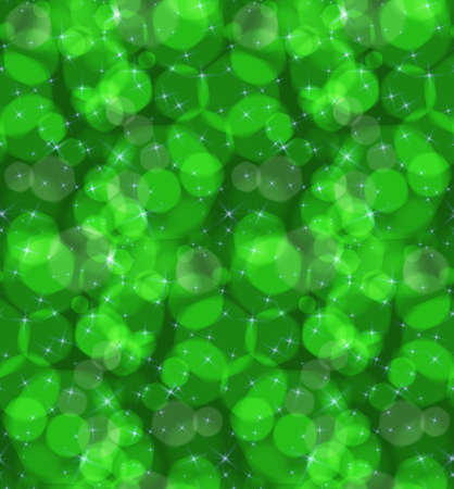 Bokeh green stars.Seamless pattern.Pattern with bokeh light effect.Colorful background.