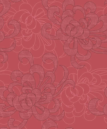 Aster flower overlapping pink.Seamless pattern. Floral fabric collection. Ilustracja