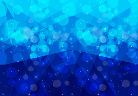 Bokeh and low poly ocean.Seamless pattern.Pattern with bokeh light effect.Colorful background.