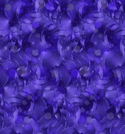 ボケ味の紫の雲と星。シームレス パターン。ピンぼけ光効果とパターン。カラフルな背景。