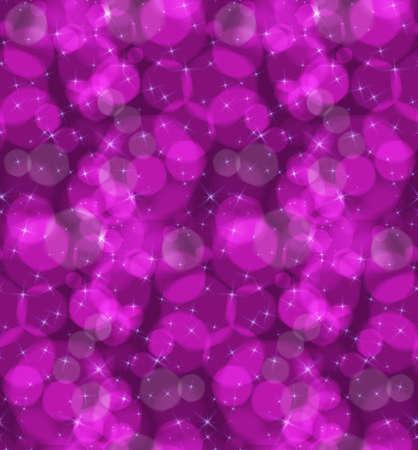 ボケ味の紫星です。シームレス パターン。ピンぼけ光効果とパターン。カラフルな背景。  イラスト・ベクター素材