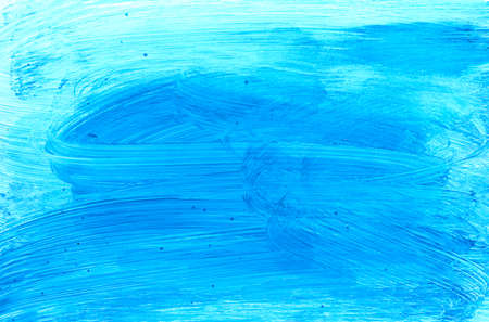 Abstract light blue textured scratched.Colorful background hand drawn with bright inks and watercolor paints. Color splashes and splatters create uneven artistic modern design.