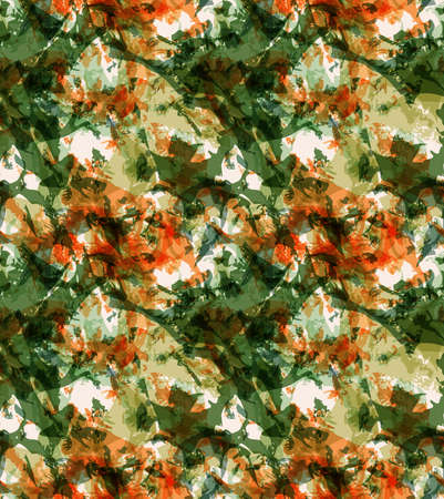 Grunge texture green and orange overlay.Seamless pattern.