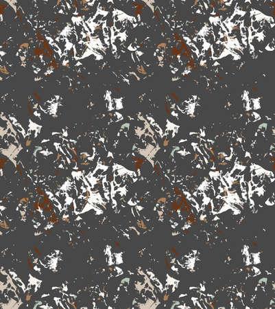 グランジ テクスチャが黒と茶色。シームレス パターン。  イラスト・ベクター素材