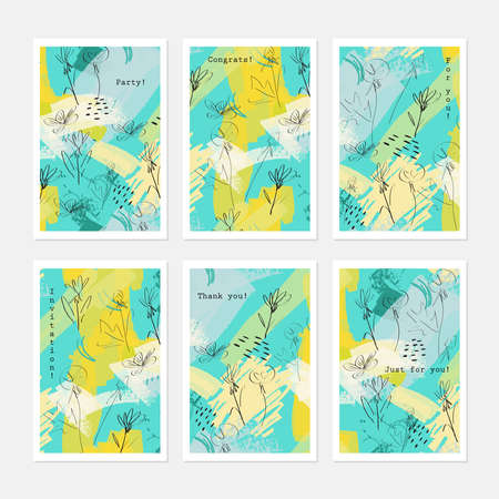 Sketched dandelion flower yellow green.Hand drawn creative invitation greeting cards.Poster placard flayer design templates. Anniversary Birthday wedding party cards.Isolated on layer. Stock Vector - 75005445