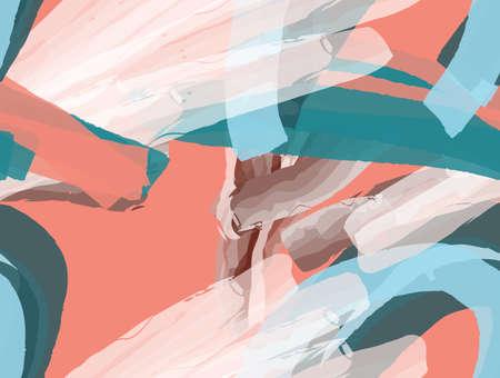 カラフルな水彩ブラシストローク抽象的なシームレスなパターン。グリーティングカード、招待状のための普遍的な明るい背景。●インクやマーカ  イラスト・ベクター素材