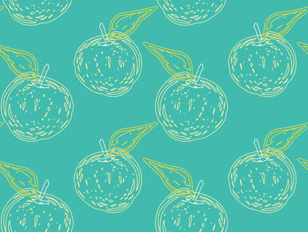 Rough textured apples.Abstract seamless pattern. Universal bright background for greeting cards, invitations. Had drawn ink and marker watercolor texture. Illustration
