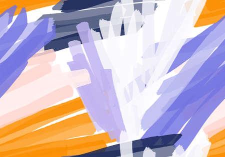 カラフルなマーカー ブラシ ストロークします。抽象的なシームレス パターン。グリーティング カード、招待状の普遍的な明るい背景。インクとマ