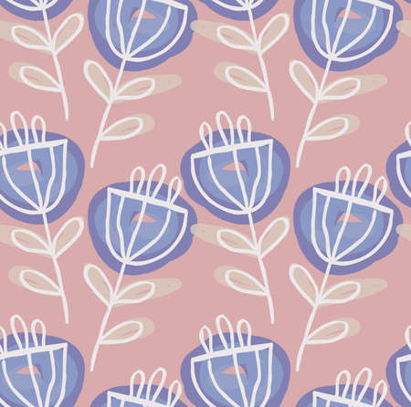 Rough drawn flower.Abstract seamless pattern. Universal bright background for greeting cards, invitations. Had drawn ink and marker watercolor texture.