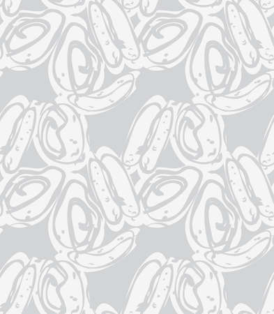Reapiting pattern with Abstract spring seeds light gray.Hand drawn with ink seamless background. Creative roughly hand drawn shapes.
