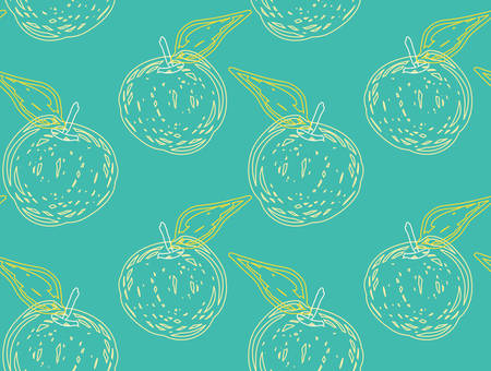 Abstract seamless pattern of rough textured apples.