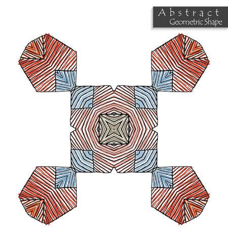 signer avec carré abstrait carré en forme de dessus. conçu à la main . motif géométrique géométrique symétrique isolé icône. symbole de vecteur de conception de l & # 39 ; icône. élément de conception de partie Vecteurs