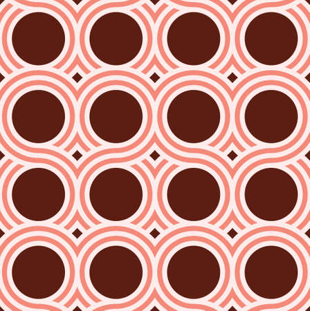 Vector seamless pattern. Simple geometric background with interlocking waves.