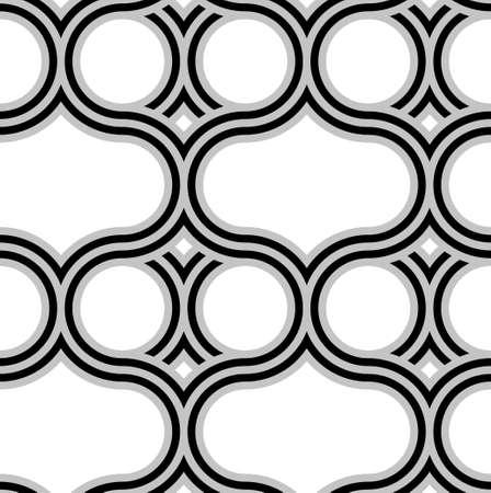 ベクターのシームレスなパターン。インターロッ キングの波を単純な幾何学的な背景。  イラスト・ベクター素材