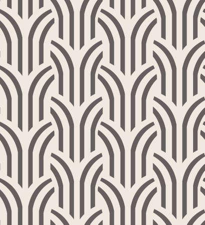 ベクターのシームレスなパターン。抽象ツリー線形図形を持つ単純な幾何学的な背景。  イラスト・ベクター素材