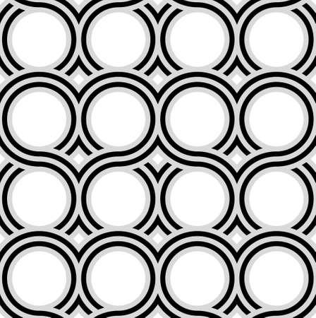 ベクトルシームレスパターン。波を連動させる単純な幾何学的背景。