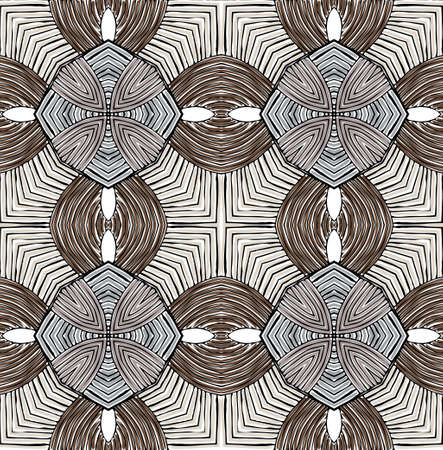 Seamless geometric abstract texture vector pattern Illustration