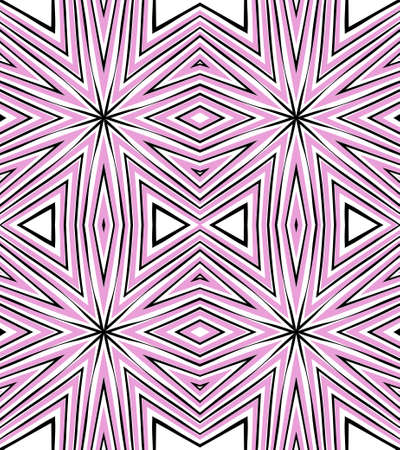 Seamless striped vector pattern. Vintage colored decorative repainting background with tribal and ethnic motifs. Abstract geometric roughly hatched shapes colored with hand drawn brush stokes. Illustration