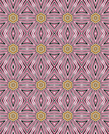 Vintage colored decorative tribal and ethnic abstract motifs pattern.
