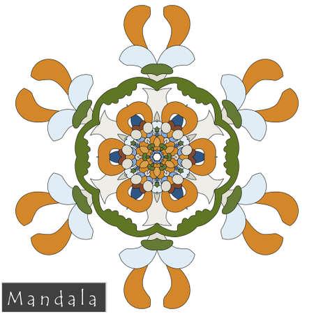 Floral symmetrical geometrical symbol.