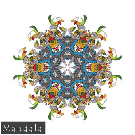 Bloemen symmetrisch geometrisch symbool.