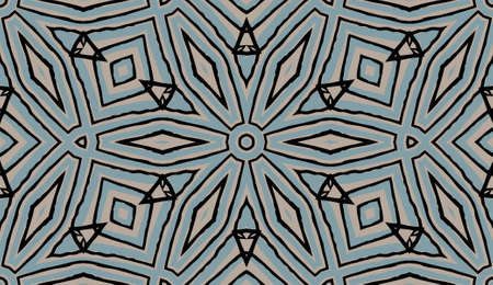Colored decorative repainting background with tribal and ethnic motifs.