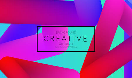 Abstract 3d liquid fluid color shape. Creative Modern vertical social media banner template. Bright neon gradient blend creating innovative 3D effect. Art vector background futuristic design. Banque d'images - 96159585
