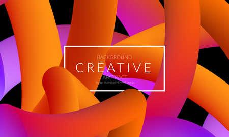 Abstract 3d liquid fluid color shape. Creative Modern vertical social media banner template. Bright neon gradient blend creating innovative 3D effect. Art vector background futuristic design. Banque d'images - 96159596