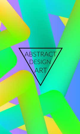 Abstract 3d liquid fluid color shape. Creative Modern vertical wed banner template. Bright neon gradient blend creating innovative 3D effect. Art vector background futuristic design. Illustration