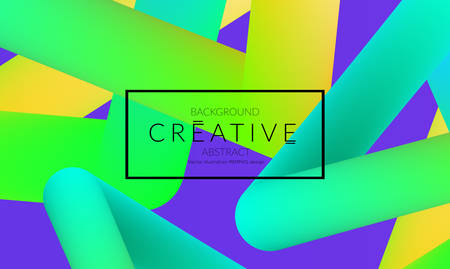 Abstract 3d liquid fluid color shape. Creative Modern vertical social media banner template. Bright neon gradient blend creating innovative 3D effect. Art vector background futuristic design. Banque d'images - 96138780