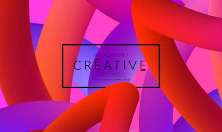 Abstract 3d liquid fluid color shape. Creative Modern vertical social media banner template. Bright neon gradient blend creating innovative 3D effect. Art vector background futuristic design. Banque d'images - 96140257