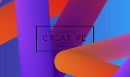 Abstract 3d liquid fluid color shape. Creative Modern vertical social media banner template. Bright neon gradient blend creating innovative 3D effect. Art vector background futuristic design.