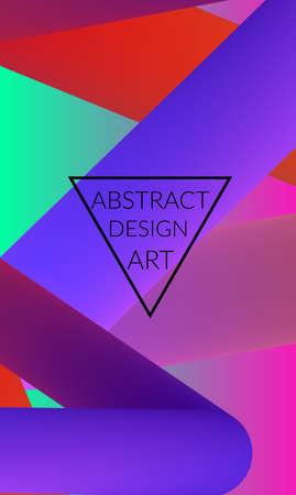 Abstract 3d liquid fluid color shape. Creative Modern vertical wed banner template. Bright neon gradient blend creating innovative 3D effect. Art vector background futuristic design. Stock Illustratie